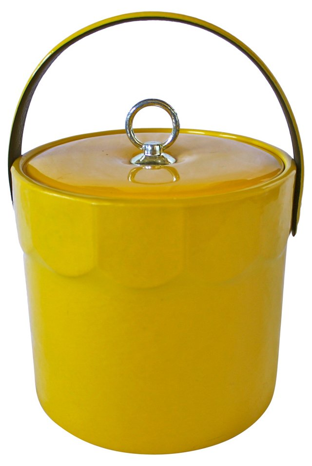Yellow Midcentury Ice Bucket