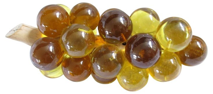 1960s Golden Lucite Grapes