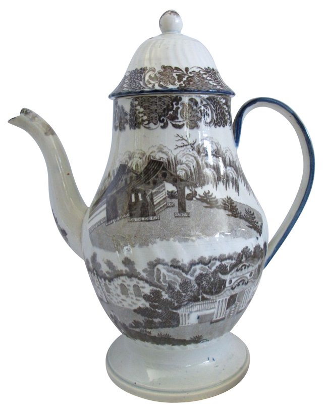 Brown Staffordshire Coffee Pot, C. 1820