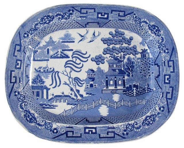 English Willow Platter, C. 1830