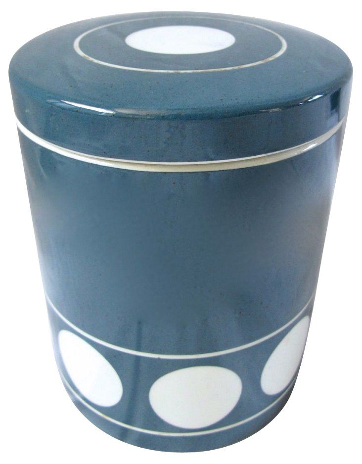 1970s T.G. Green Domino Kitchen Canister