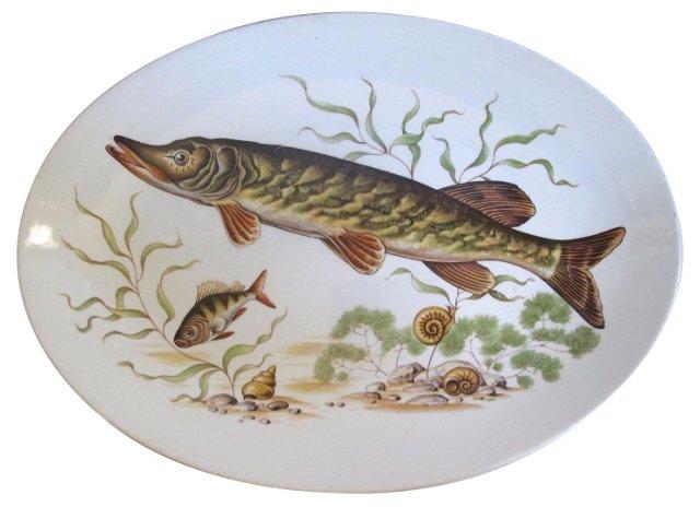 Transferware Fish Platter