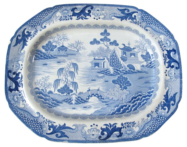 Early Staffordshire Platter, C. 1820