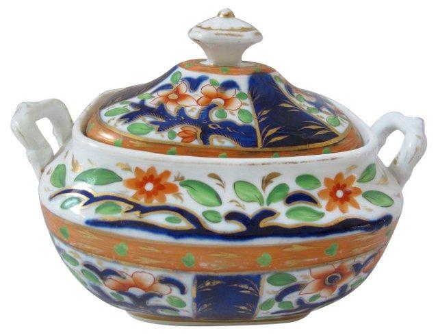 English Porcelain Sugar Bowl, C. 1820