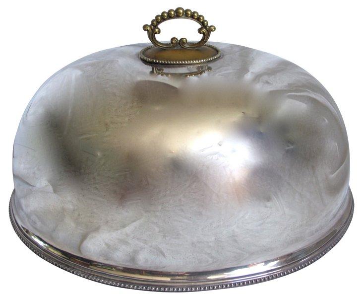 Heavy English Silverplate Cloche