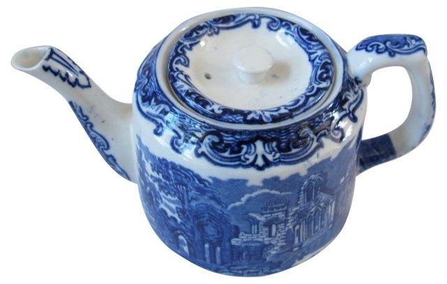 George Jones Flow Blue Abbey Teapot
