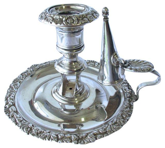 Silverplate Chamberstick, 2 Pcs