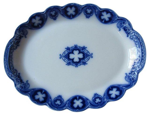 Flow Blue Savoy Pattern Platter