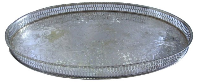Viners English Silverplate Gallery Tray