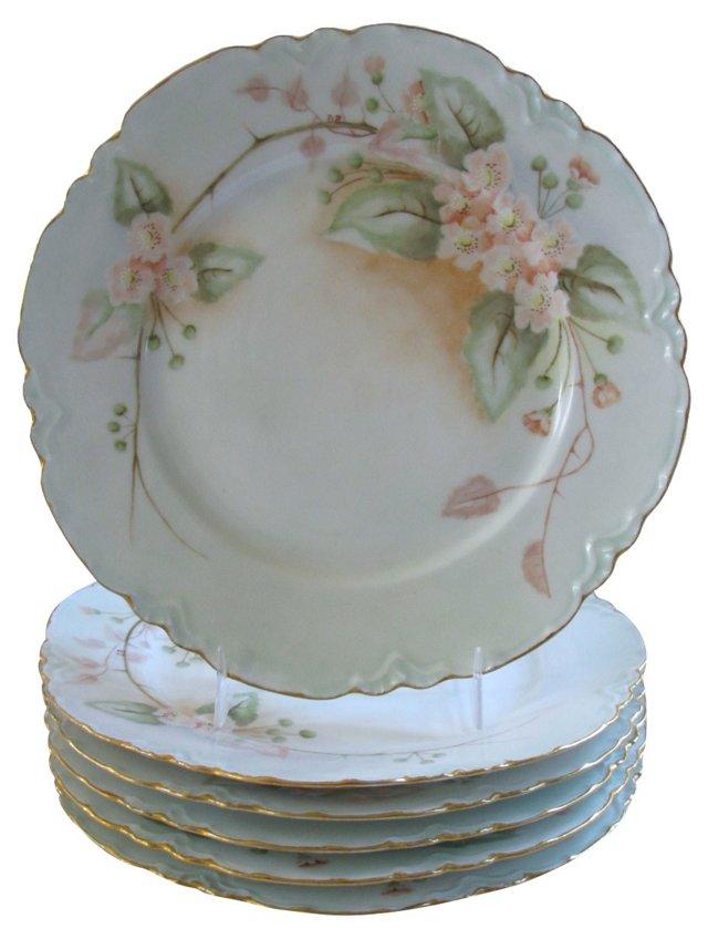 Haviland Limoges Painted Plates, S/6