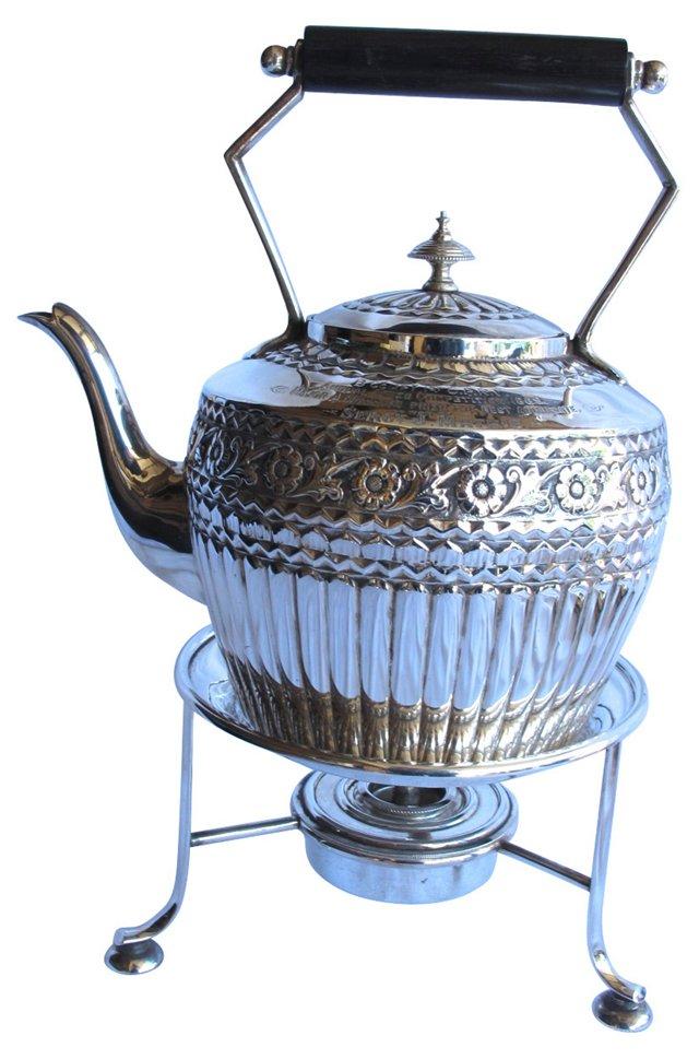 1889 Heavy Silverplate Teapot