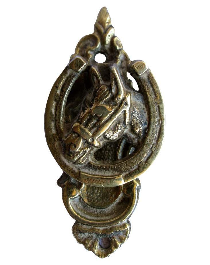 Brass Equestrian Door Knocker