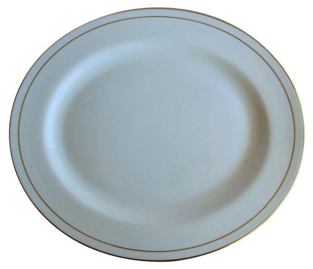 Royal Worcester Gold Trim Platter