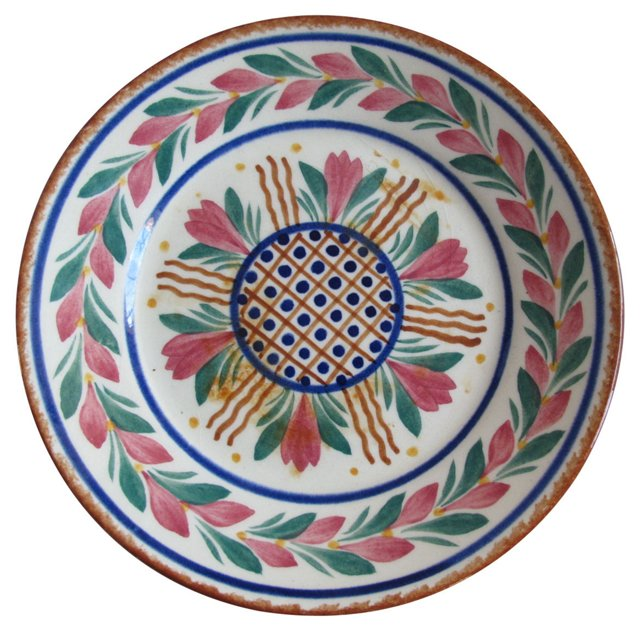 French Faience Quimper Plate