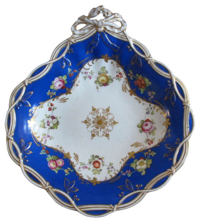 Antique Hand-Painted Porcelain Dish