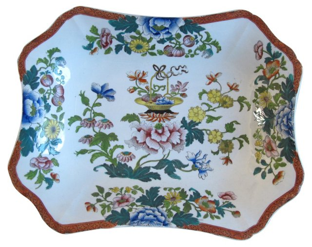 Hand-Painted Early Wedgwood Dish
