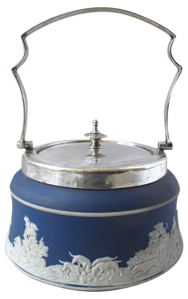 English Silverplate Preserve Pot