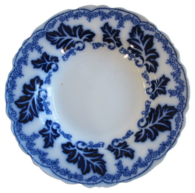 Antique Flow Blue     Bowl