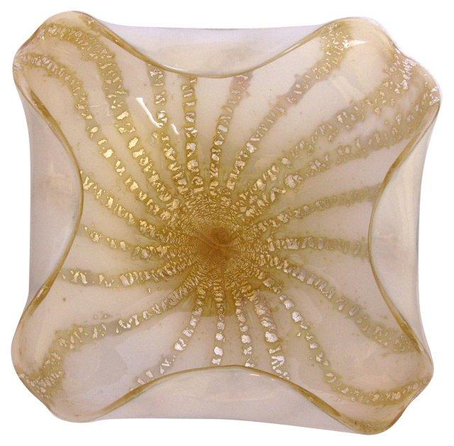 Murano Gold Swirl Bowl