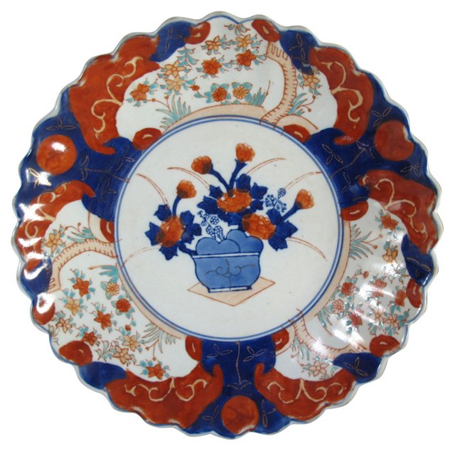 Antique Japanese Porcelain Wall  Charger