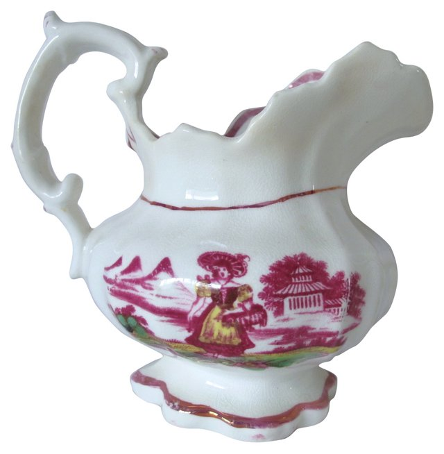 English Luster Porcelain Jug, C. 1830