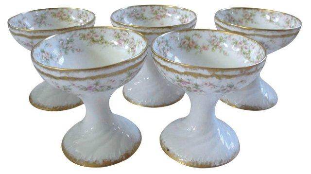 Antique Limoges Sorbet Cups, S/5