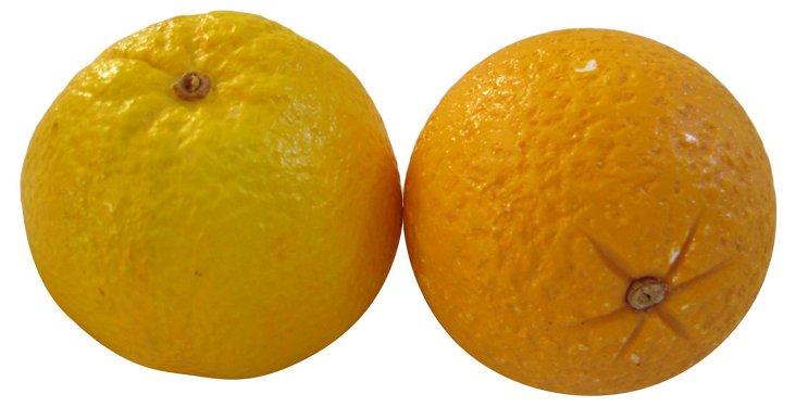 Italian Alabaster Oranges, Pair