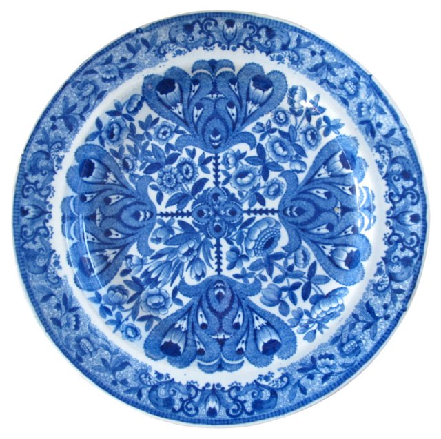 Staffordshire Pearlware Plate, C.  1820