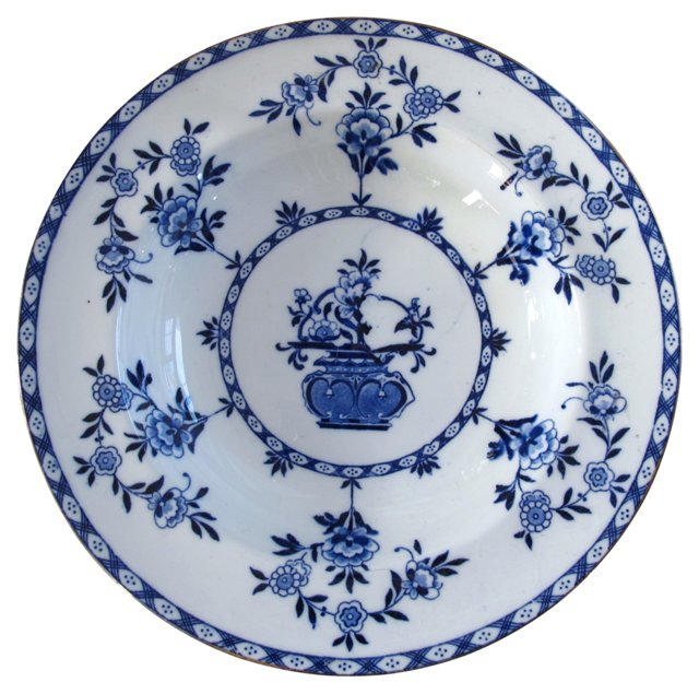 Doulton Porcelain Blue & White  Bowl