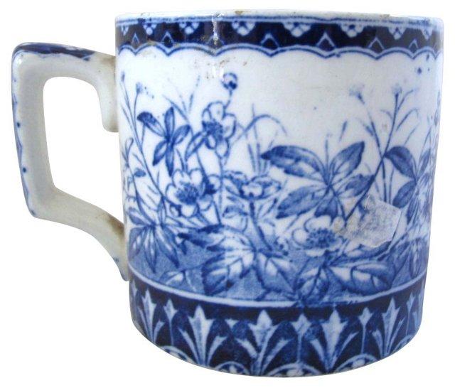 Antique Flow Blue Coffee Mug