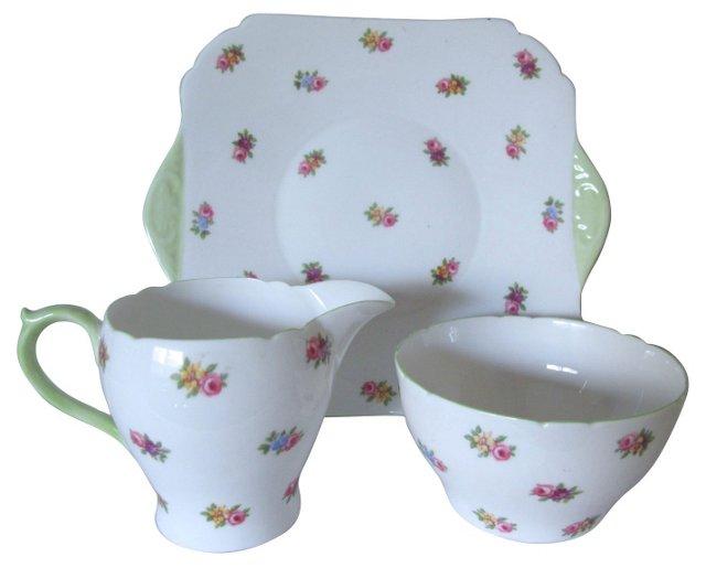 Shelley Porcelain Serving Set, 3 Pcs