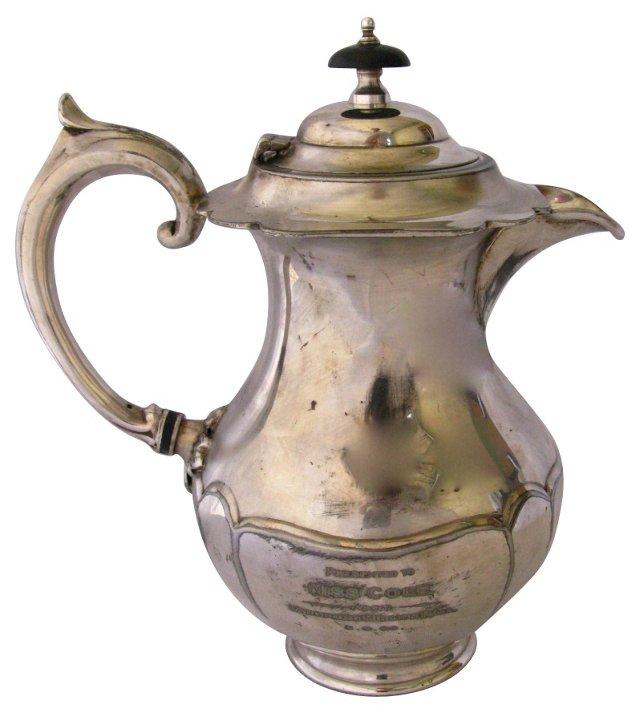 Silverplate Trophy Teapot, 1939