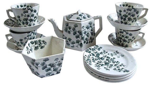 Antique Children's Tea Set, 14 Pcs