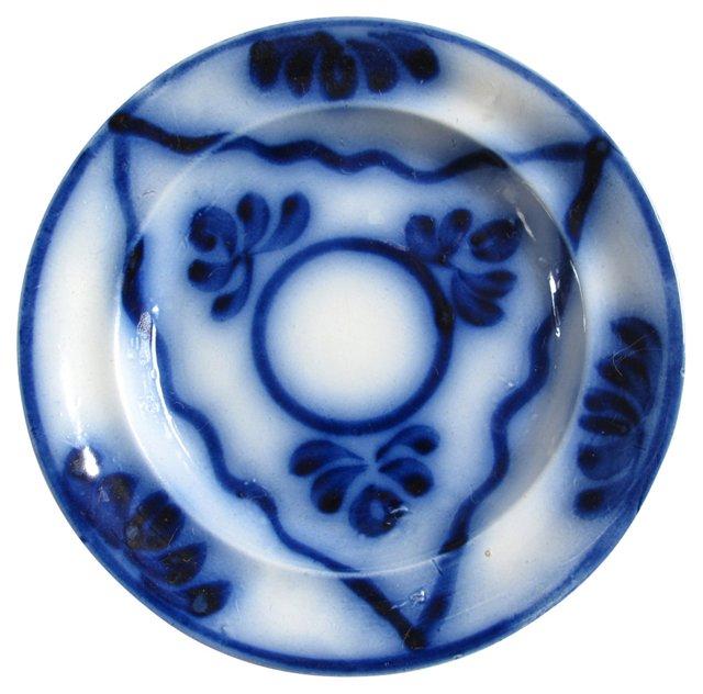 Early Flow Blue Brushstroke Plate