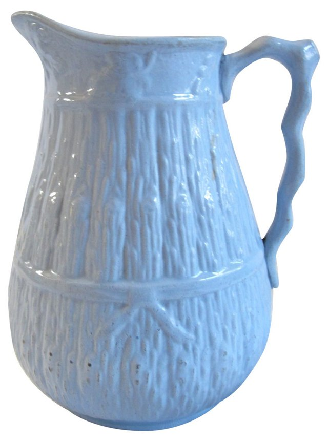 Staffordshire Blue Harvest Milk Jug