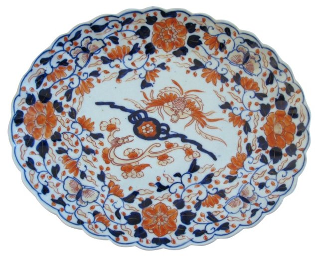 Antique Japanese Porcelain Platter