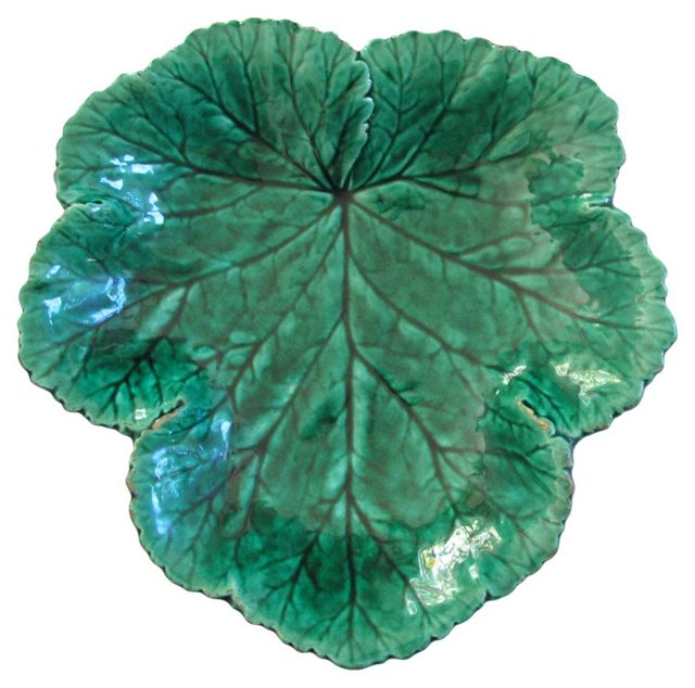 Green Majolica  Dish