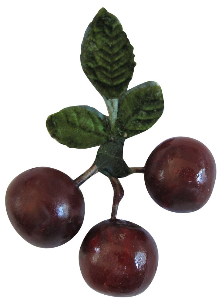 Hand-Painted  Alabaster  Bing  Cherries