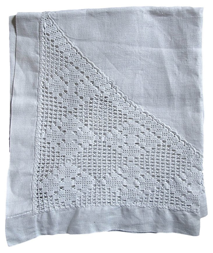 Handmade Lace Linen Tablecloth