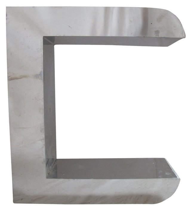 1960s Chrome Marquee Letter C