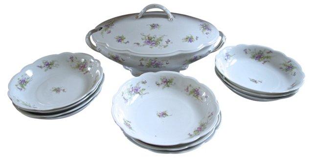 Porcelain Soup Set, Svc. for 10