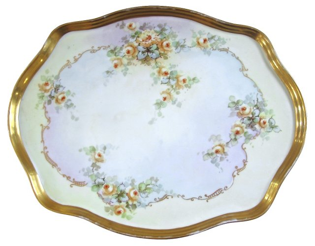 Hand-Painted Limoges Tray