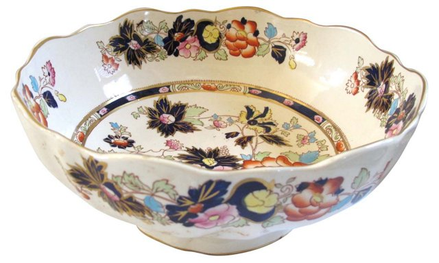 Mason's Ironstone Footed Serving Bowl