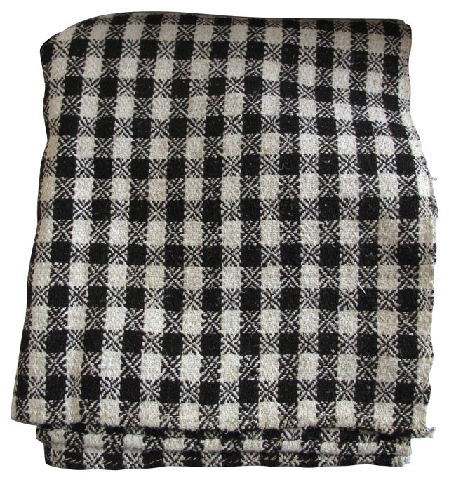 Brown Checked Coverlet