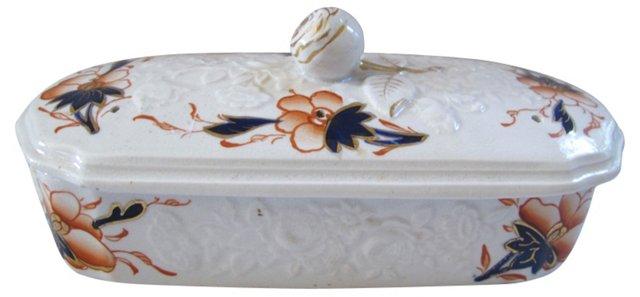 English Porcelain Razor Box, C. 1840
