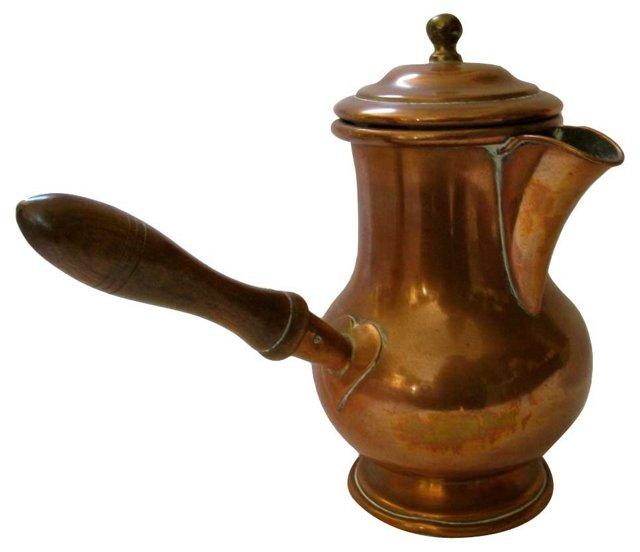 Antique Copper  Chocolate Pot