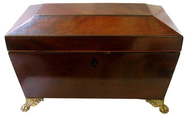 Antique Claw-Foot Box