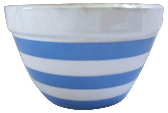 English Cornishware Pudding Bowl