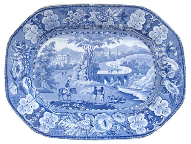 Staffordshire     Platter, C. 1820