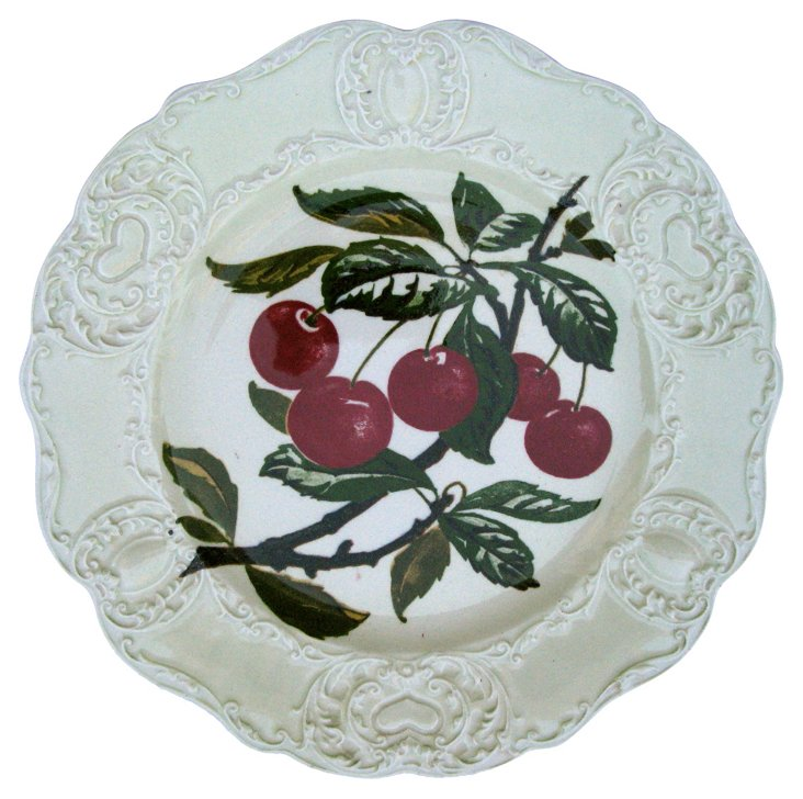 Antique Staffordshire Cherry Wall Plate